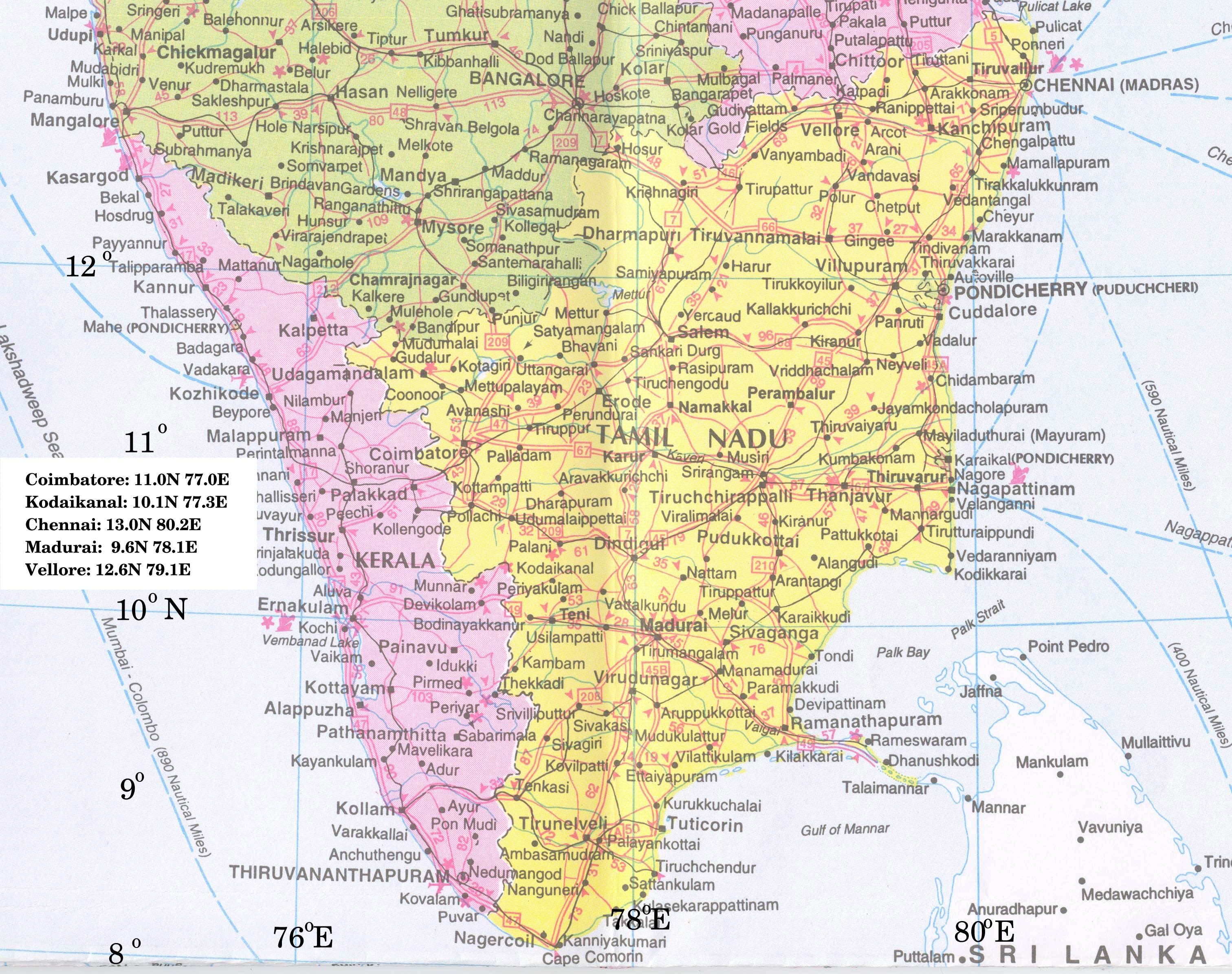 Southtipbg here are three maps each repeated in two or three sizes city of coimbatore the coimbatore to madurai area of tamil nadu and five degrees worth of gumiabroncs Gallery